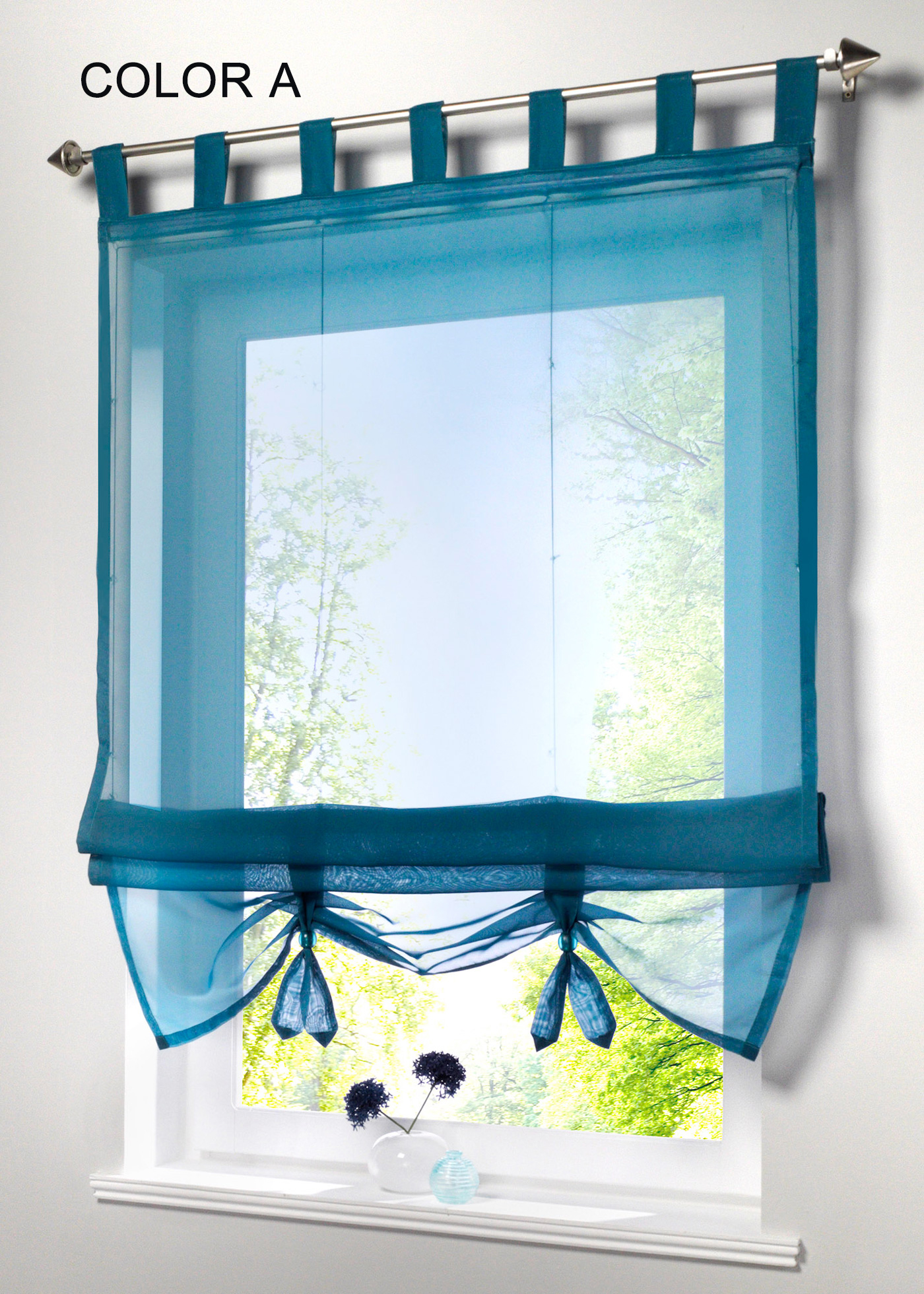 german style liftable window curtains nice sheer voile roman curtain tulle blinds for the. Black Bedroom Furniture Sets. Home Design Ideas