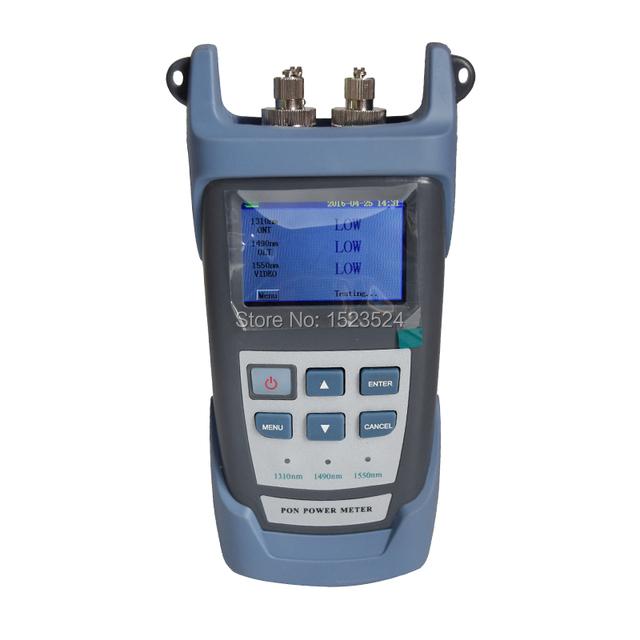 Marca Nueva Versión Inglés PON Medidor de Potencia Óptica para EPON GPON ONT xPON/OLT 1310/1490/1550nm