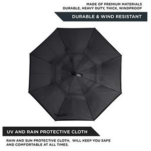 Image 2 - Upside Down UV Protection Unique Windproof Brella That Open Better Than Most Umbrellas, Reversible Folding Double Layer