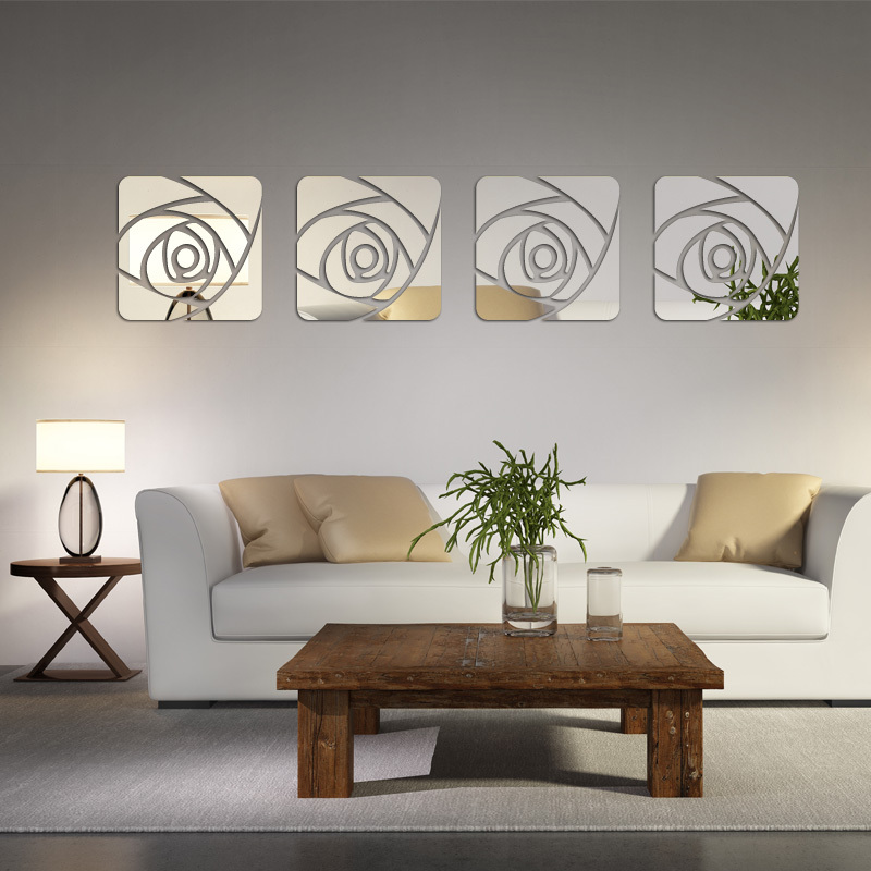 2017 Hot Sale Acrylic 3d Wall Stickers Home Decor Mirror Room Decoration Pegatinas De