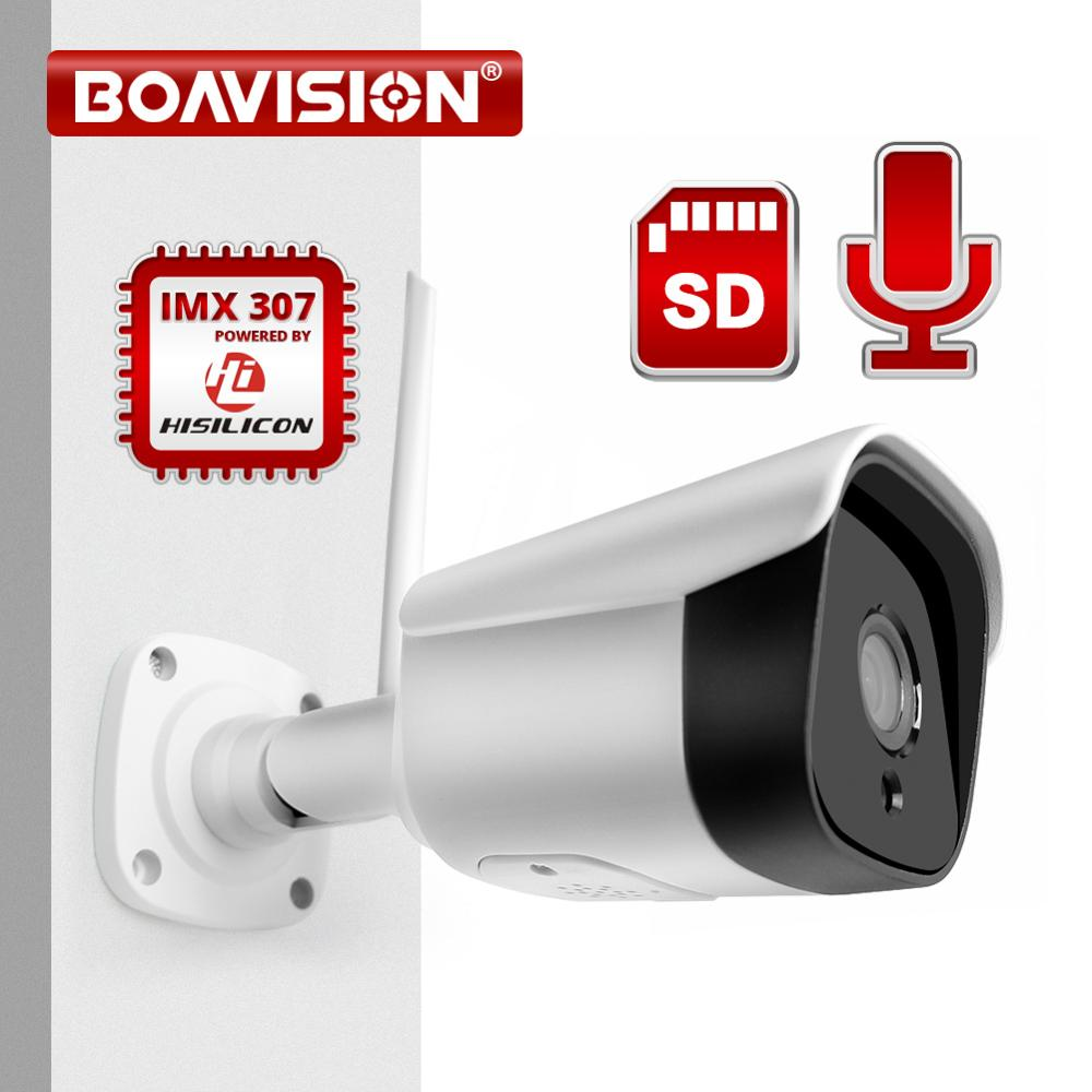 1080P Wifi IP Camera Bullet Wireless Onvif 2MP IMX307 Metal Outdoor Two Way Audio IR 20M