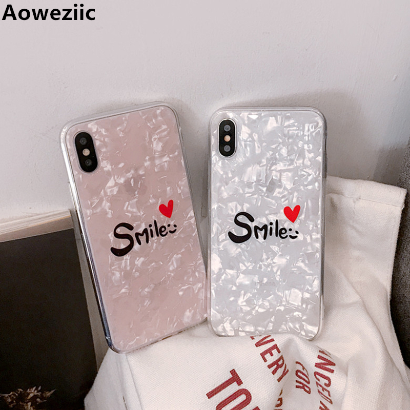 Aoweziic New Shell shell protective shell For iPhoneX XS full package soft edge 6 6S 7 7P 8Plus mobile phone shell Smart cover in Fitted Cases from Cellphones Telecommunications