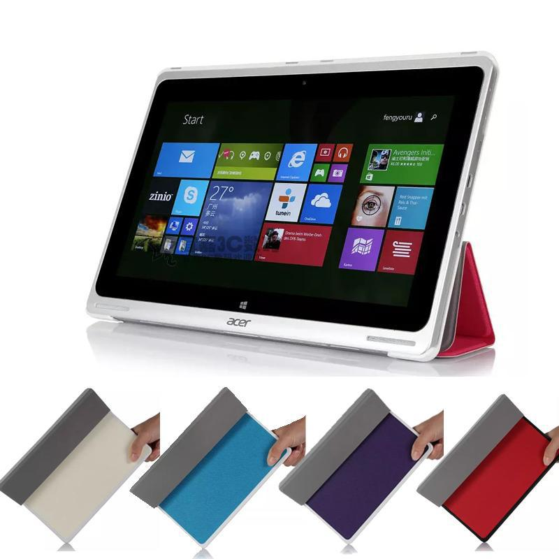 Ultra Thin Slim Folding 3-folders Magnetic Stand Leather Case Folio Cover For Acer aspire Switch 10 SW5-011 10.1'' tablet