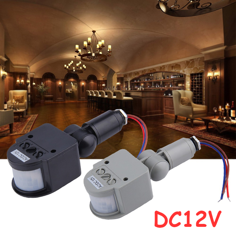free shipping dc12v automatic pir infrared motion sensor detector light switch for led light outdoor 3pcs - Motion Detector Lights
