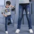 Varejo 2017 Novas Crianças Primavera Roupas de Outono Jeans Meninos Crianças Calças Calças Para Meninos Calças Jeans Casuais 4-16A Alta Qualidade