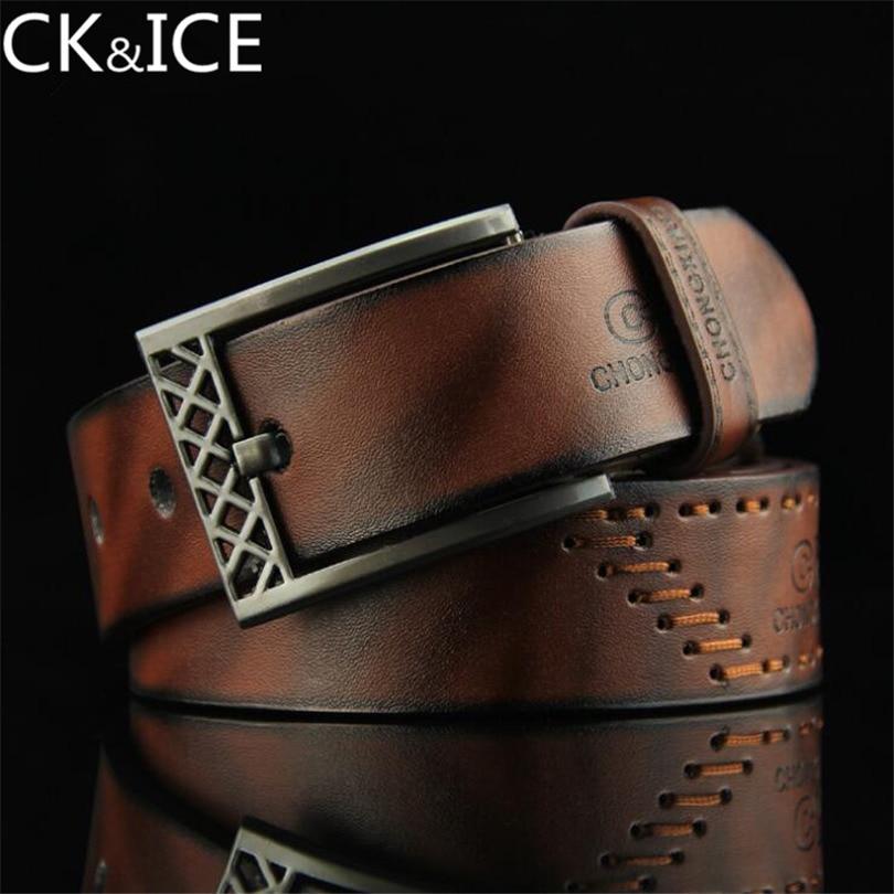 CK&ICE new men's hip hop style antique pin buckle belt PU men's casual fashion belt belts for men's belt