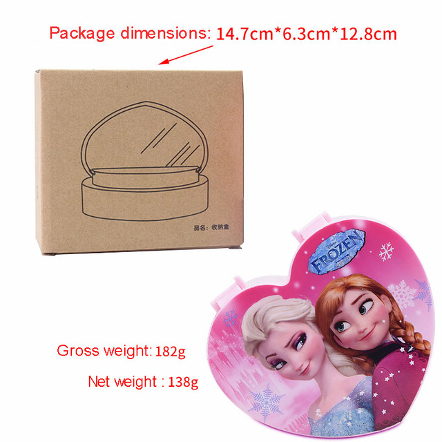 Girls Jewelry Box Heart-shaped children cartoon princess Cosmetic case cosmetics storage box