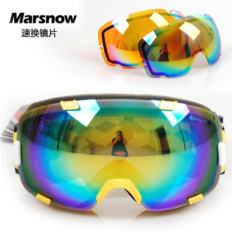 polarized snowboard goggles 0tnw  Polarized Lens+Orange Lens Skiing Goggles Men Women Snowboard Dual Layer  Glasses All-Weather