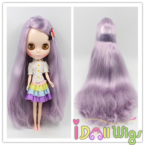 hot sale long loose wavy soft purple baby bly the pullip