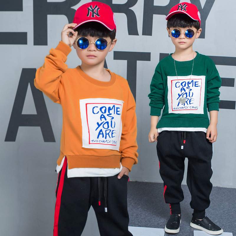 2018 New Boys Clothes Sets Spring Autumn Kids Clothing Sets Long Sleeve T-shirt Pants Outfits Suit Children Clothes Set 2 Piece kids clothes sets wholesale spring and autumn boys sports leisure suit t shirt hoodie long pants free shipping in stock