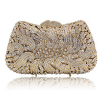 Top Design Gold Crystal Evening Bag Luxury Clutch Purse For Wedding Party Purse Prom Handbag Banquet