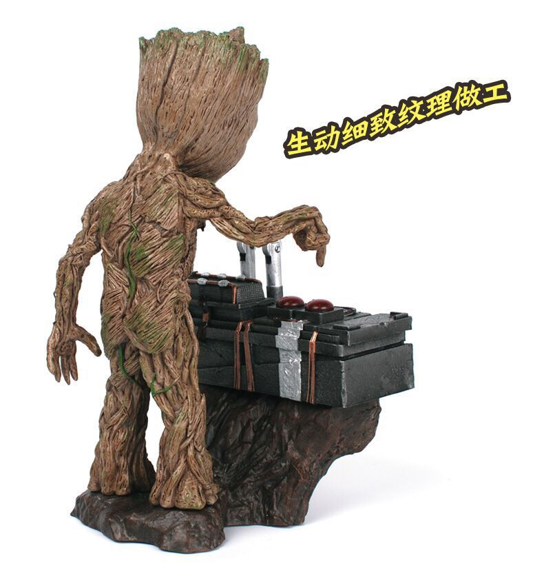 NEW hot 17cm Guardians of the Galaxy Groot Scene version action figure toys collection Christmas gift <font><b>doll</b></font>