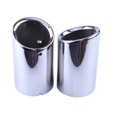 evil energy 2pcs Exhaust Tip Muffler Exhaust Muffler Tail Pipe Tip For Audi Q3 2012-2018 Automobiles Accessories Car Tail