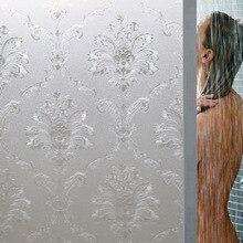 Europe style flower glass decoration film no glue PVC plastic waterproof Electrostatic adsorption Glass 3D Opaque sticker