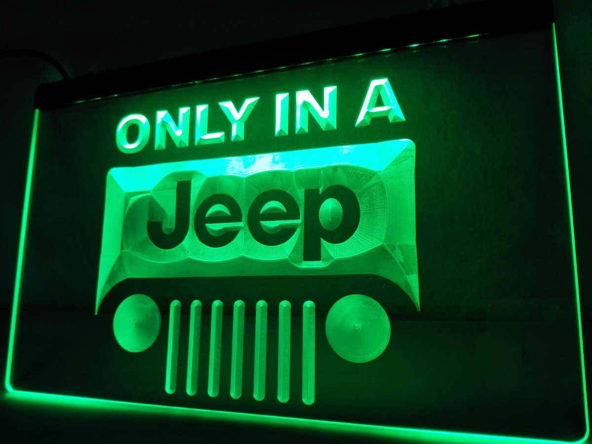 Lg134 In Jeep Led Neon Light Sign Hang Home