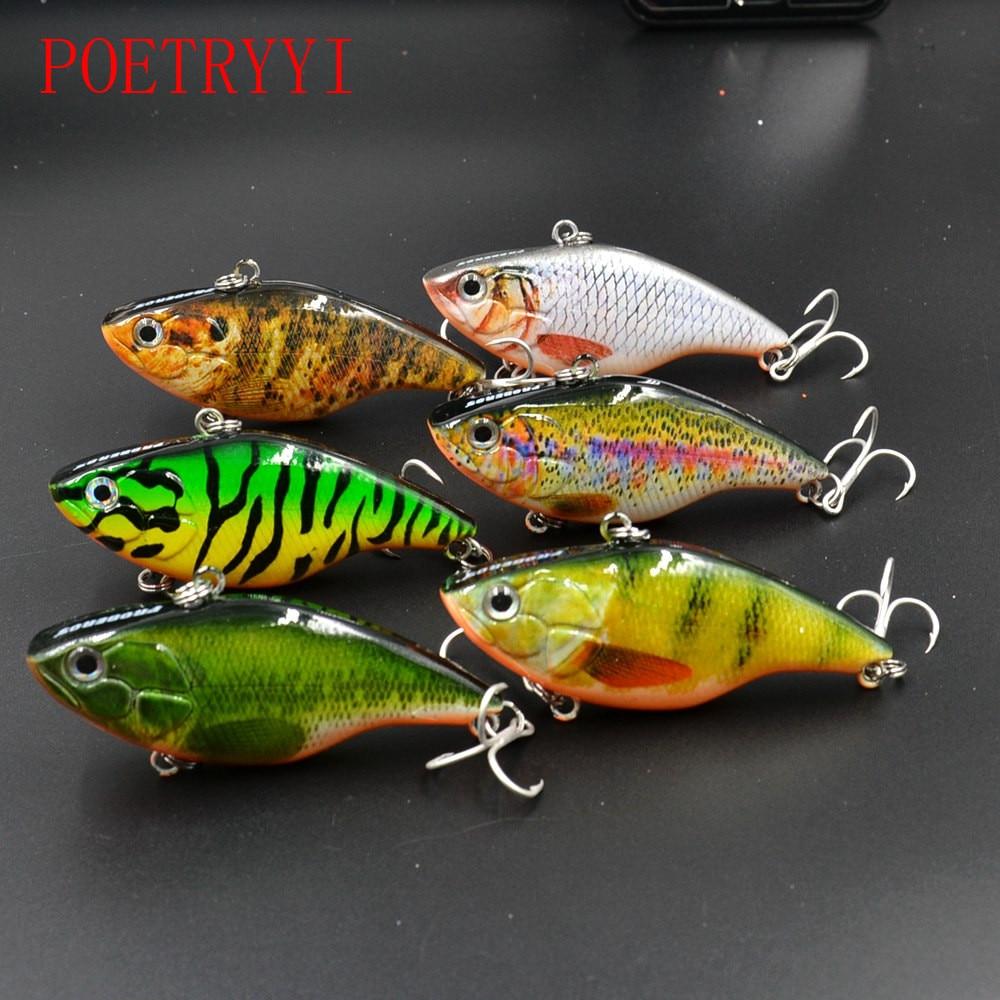 6Pcs/lot 7.4cm 18.5g Deep Diving Crankbait Fishing Lure Bass hard bait Lifelike Wobblers 6# Owner Hooks peche isca Artificial
