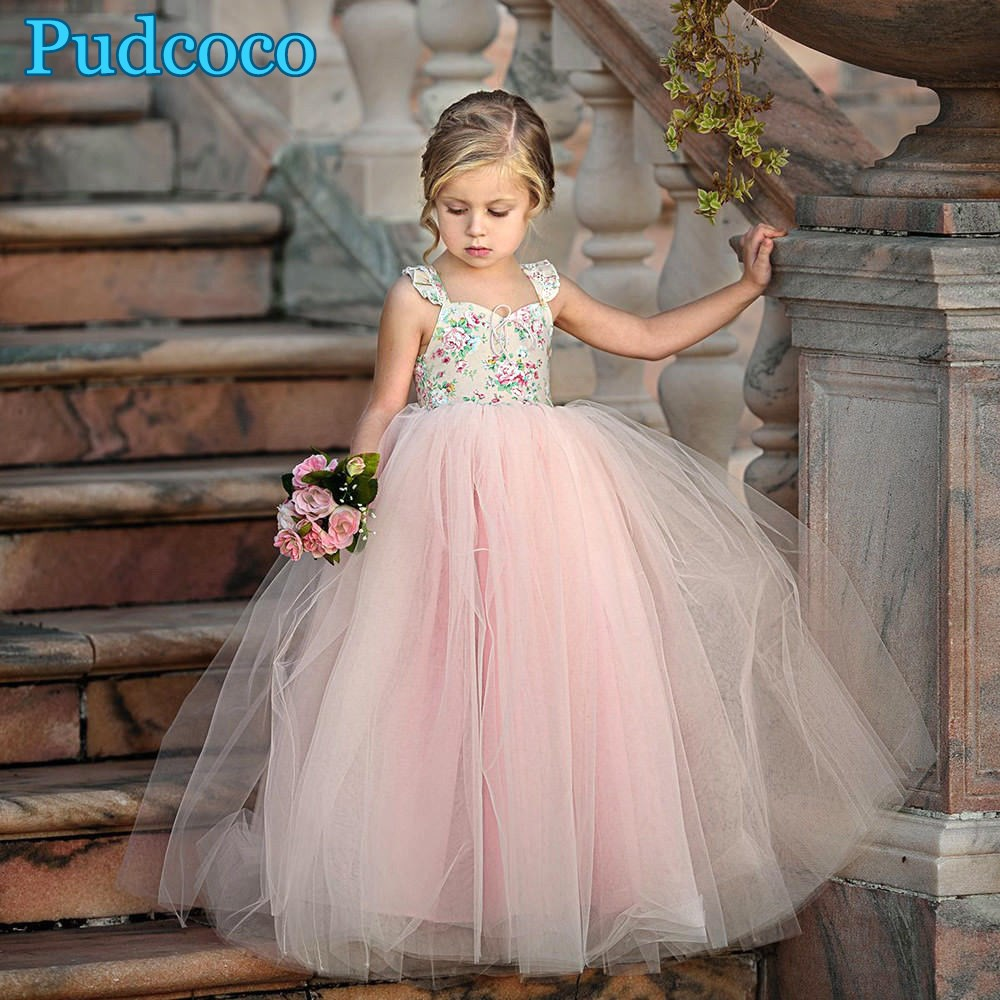 Toddler Kid Baby Girl Wedding Birthday Princess Party Prom Tutu Dress Sundress A