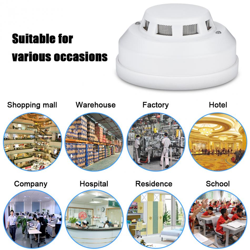DC 12V Wired Liquefied Petroleum Gas Alarm Detector Carbon Monoxide Detectors Connect To Alarm System FIR Anti Gas Leaking
