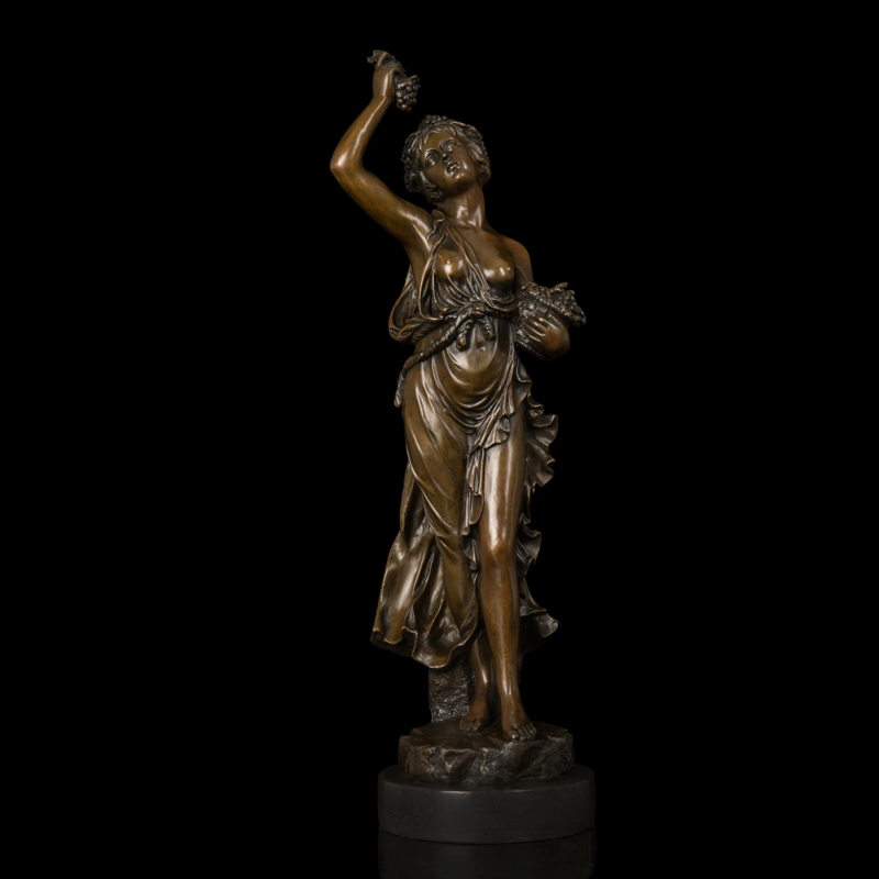 Arts Crafts Copper Classical Bronze Statue sculptures for decoration woman goddess of the harvest figurine business gifts czs 41