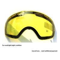 COPOZZ Double Brightening Lens Ski Goggles Night Of Model Number GOG 201 For Weak Light Tint