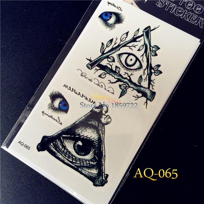 Boze Oog Tattoo.1 St Boze Oog Van God Body Art Nep Tattoo Stickers Haq65