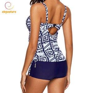 Image 4 - 2020 New Tankini Swimsuits Women Swimsuit High Waisted Bathing Suits Vintage Retro Swimwear Swimming Suit For Women Beachwear XL