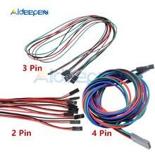 1 шт. 2Pin 3Pin 4Pin 70 см Dupont линия женский кабель Dupont 3D принтеры части двойной головной терминал Перемычка провода