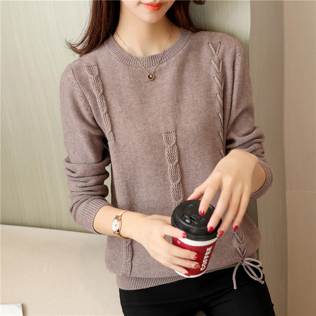 2018 and women's clothing Cultivate morality round neck sweaters twist F2052 wear render unlined upper garment