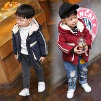 Baby Toddler Boys Autumn Winter Hooded Coat Cloak Jacket Thick Warm Clothes J31