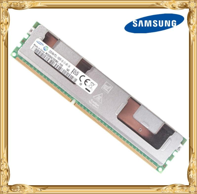 Mémoire serveur Samsung DDR3 32 GB 1333 MHz ECC registre RDIMM PC3L-10600R RAM 240pin 10600 32G