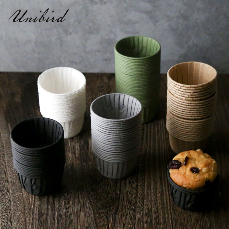 30/60Pcs Ins Style Muffin Cupcake Paper Cups Party Cups Liner Cake Decorating Tools Cake Mold Tray Baking Accessories