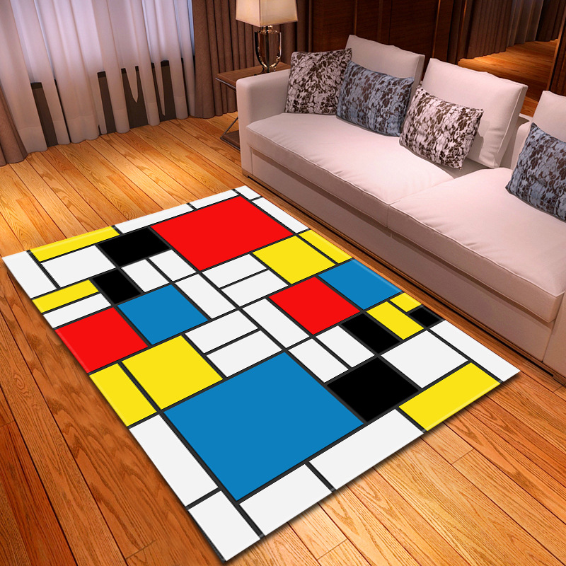 3D Colorful Simple Style Carpets For Living Room Bedroom Soft Area Rug Home Floor Bedroom Carpet Parlor Decorate Kids Room Mat