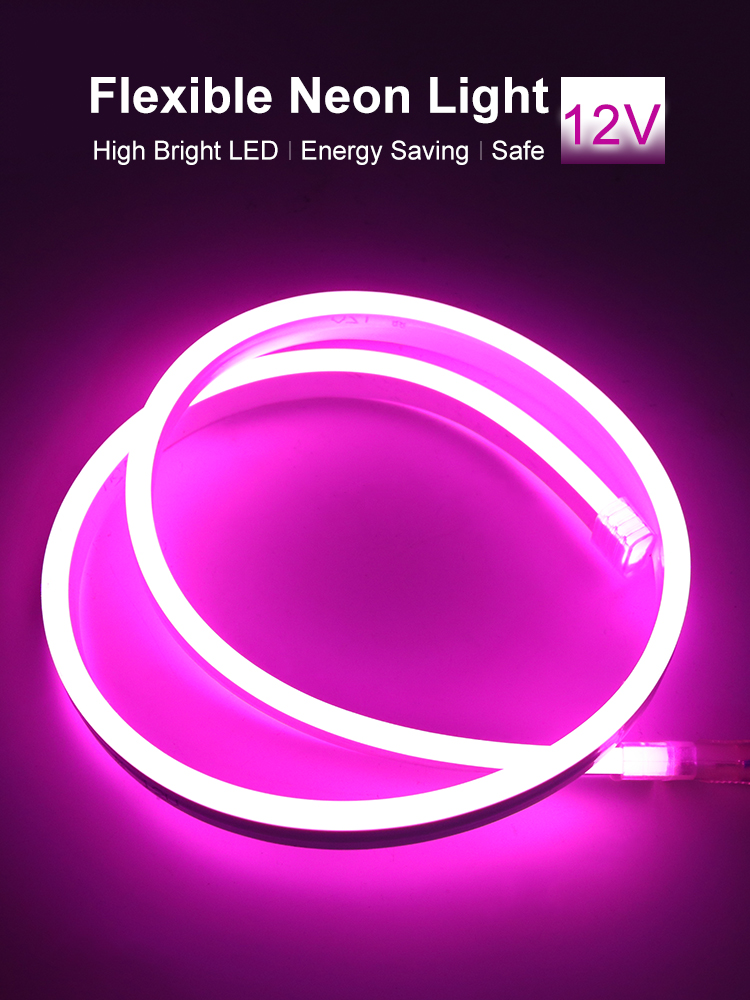 LED Strip 12V Neon Light RGB Flexible Waterproof Diode Tape DC Low Voltage Ribbon Lights Ledstrip Ambilight Neon LED Stripe JQ