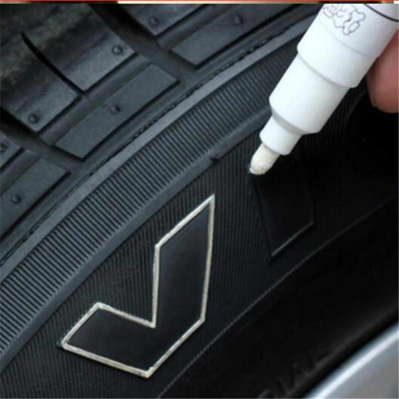 1 X Auto Kleurrijke Band Pennen Loopvlak Rubber Metalen Permanente Verf Marker Pen Waterdicht Tekening Trim Tyre Pennen Universele