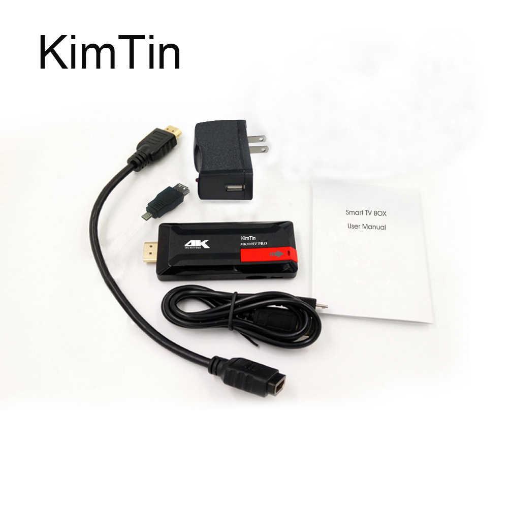 最新 KimTin RK3229 クアッドコア A9 ミニ PC の TV ドングル 2 ギガバイト DDR3 16 ギガバイト Rom アンドロイド 7.1 の Bluetooth 2.4 3g Wifi 4 18k H.265 Google テレビボックス
