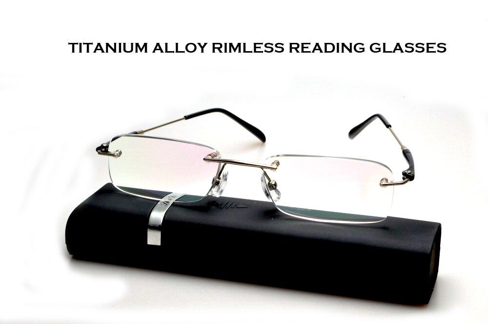 Occhiali da Lettura Real 2019 Claravida Frameless Portátil Com Caso de Óculos de Leitura Sem Aro Para Os Homens + 1 + 1.5 + 2 + 2.5 + 3 + 3.5 + 4