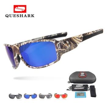 Gafas De Sol polarizadas De camuflaje Queshark, Gafas deportivas De pesca UV400,...