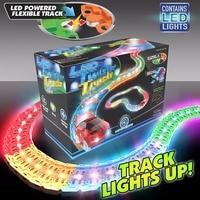12 Feet Glowing Race Car Twister Track LED Flashing Light Tracking Rail Glow In The Dark