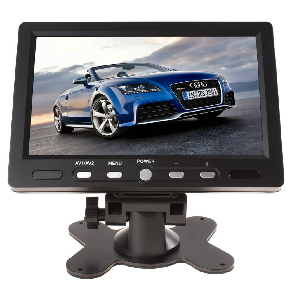 7 Inch 800 x 480 Color TFT LCD Screen AV HDMI VGA Car Rear View Monitor PAL / NTSC with Remote Control for Car Rearview Camera waterproof car rearview camera ntsc