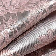 Tissu Élégant De Luxe Blackout Rideaux Pour Salon Rose Stores Rideaux Jacquard Damassé Européenne Fenêtre Traitements Panneaux