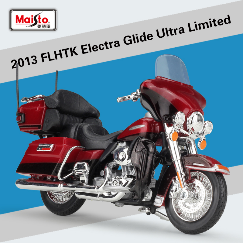 1:12 2013 FLUTK ELECTRA GLIDE ULTRA LIMITED Maisto Diecast Metal Model Sport Race Motorcycle Model Motorbike For Collectibles