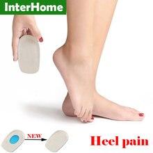 El tratamiento de talón trastornos almohadilla de silicona a aliviar la fatiga del tratamiento de tacones altos Spur dolor fascitis Plantar del talón Comfort taza cuidado de los pies