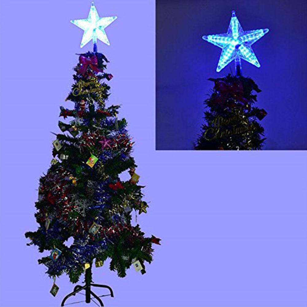 Led Fivepointed Stars Lights Christmas Tree Topper Pendant New Year Xmas  Festival Party Wedding