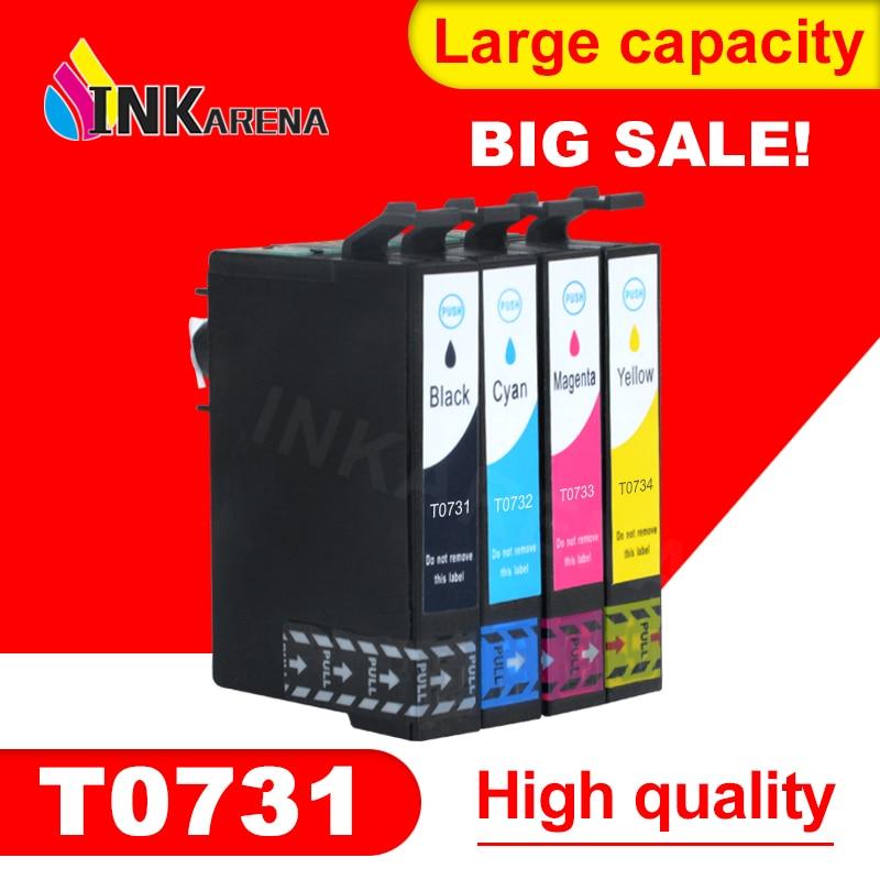 4 STÜCKE TINTE Patrone 731N 73N T0731 für EPSON C79 CX5500 CX8300 TX100 TX210 TX410 TX550w Druckerpatronen Kits Volle Tinte