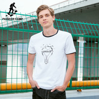 Pioneer Camp New Hit Color Men T Shirt Brand Clothing Fashion Printed Bulb Pattern T Shirt