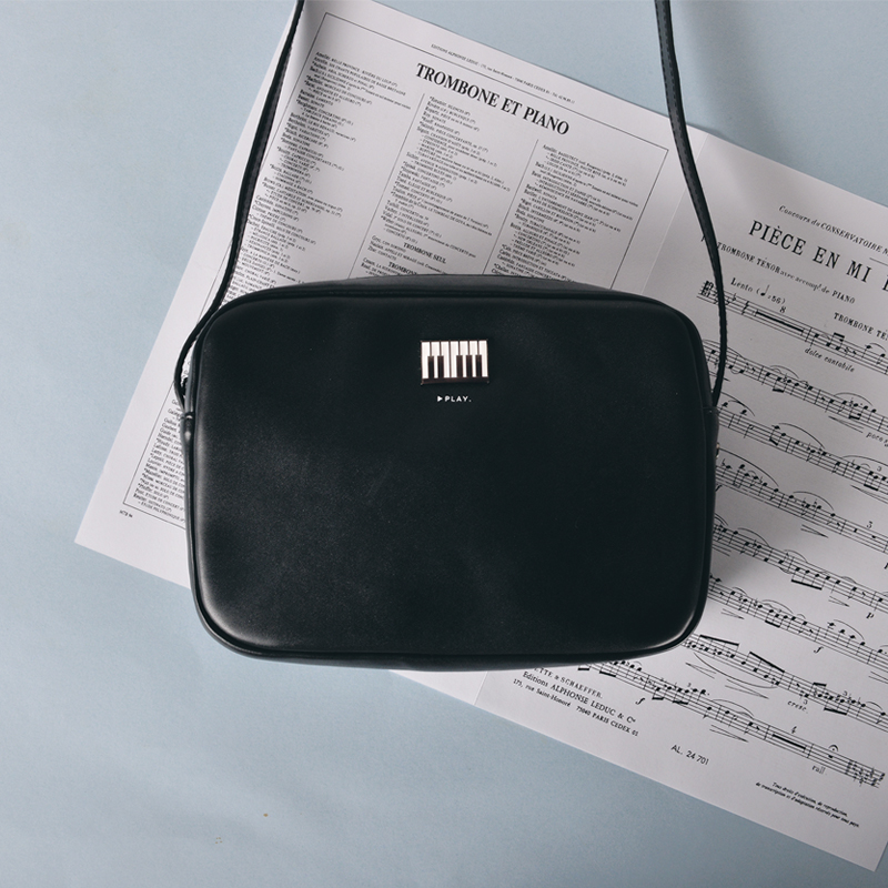 KIITOS New product  music series  fresh and literature square PU leathe inclined shoulder bag literature and cinema