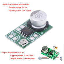 DC 3 V ~ 12 V 5 V 6 V LM386 Mini Mikro Audio Power Amplifier Board Amp Modul 750 MW(China)