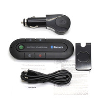 Wireless Delgado Bluetooth Kit de Coche Bluetooth Multipunto con Altavoz MP3 Dual USB Cargador de Coche Clip de Visera Manos Libres Bluetooth Aux