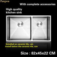 Tangwu High End Luxurious Kitchen Sink Food Grade 1 2 Mm Thick 304 Stainless Steel Hand