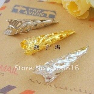 35*9MM 300Pcs (Gold/Silver/Nickel) Trombone Shape Metal Bead Caps DIY Jewelry Findings/Components